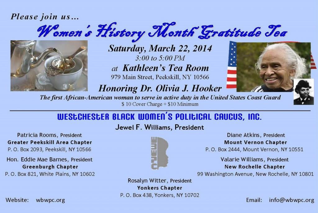 WBWPC Women's History Mnth Gratitude Tea Invite