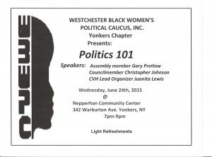 WBWPC Yonkers Chapter 2015 Politics 101